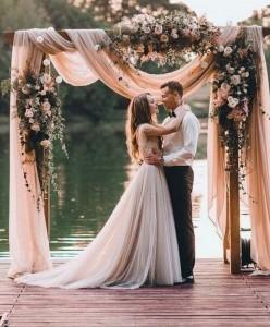 boho chic wedding arch decoration ideas