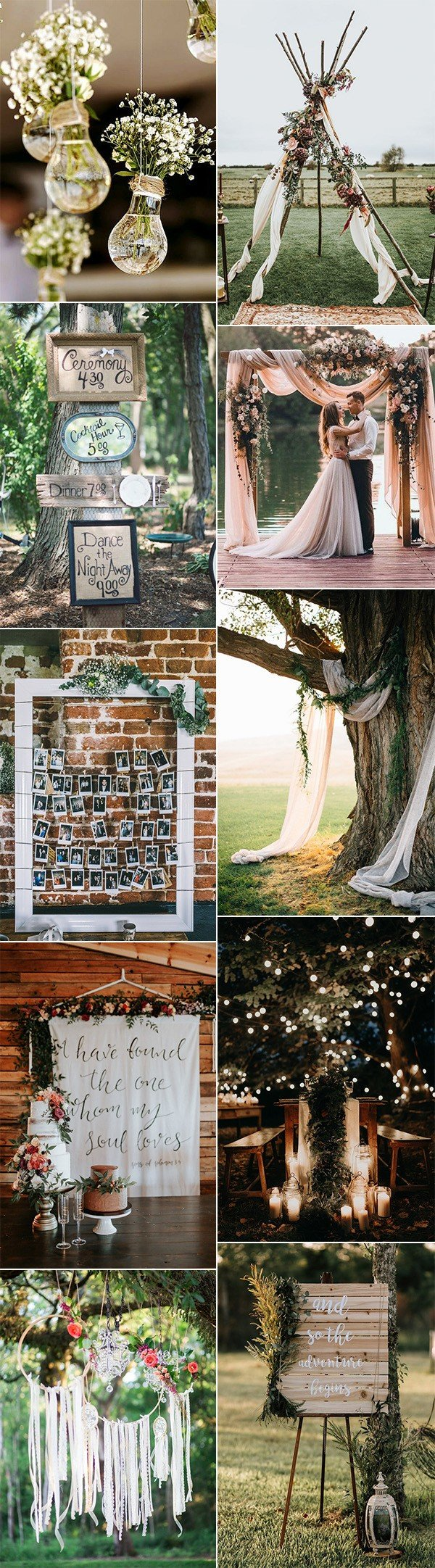 boho chic wedding decoration ideas for 2018