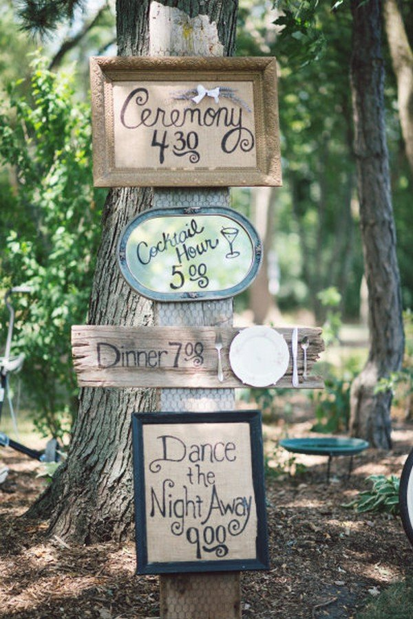 boho rustic wedding sign ideas