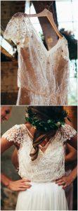 boho style vintage wedding dresses
