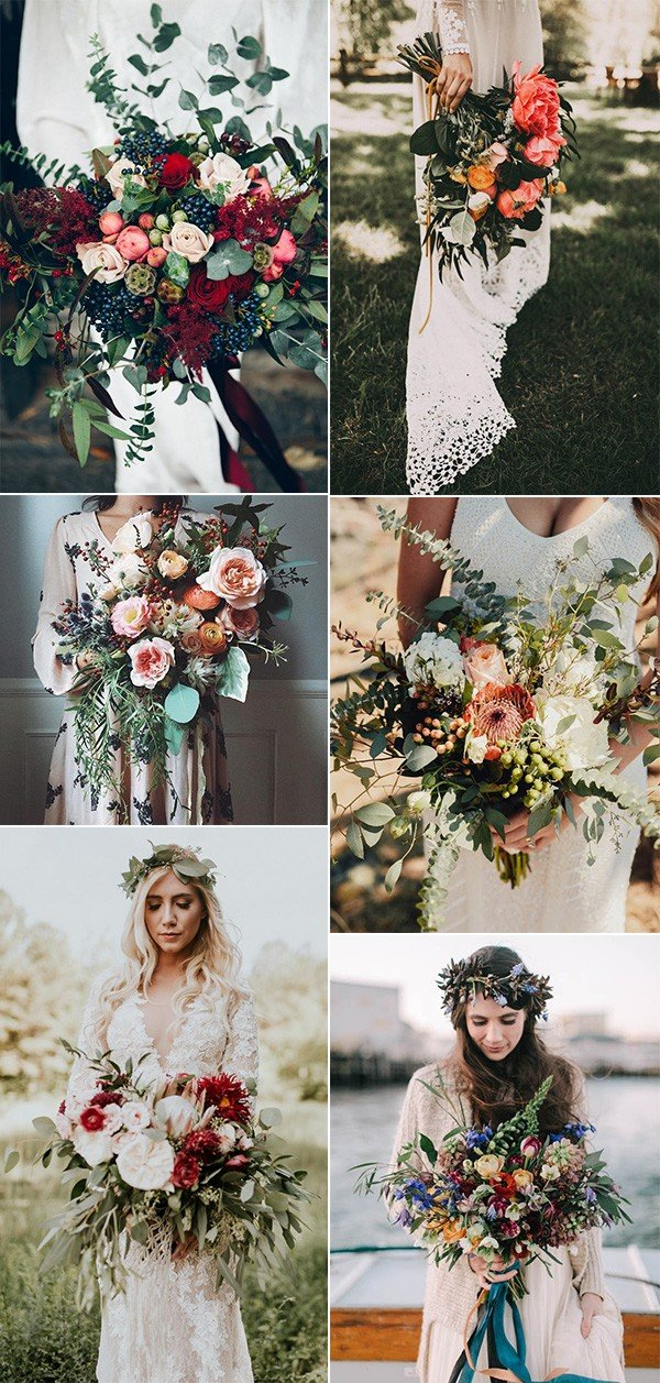 boho themed wedding bouquet ideas