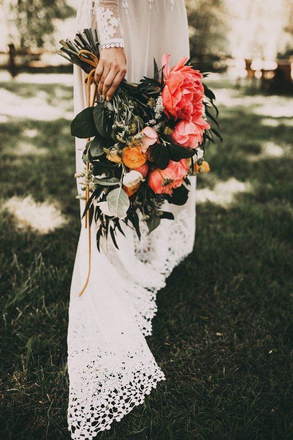 boho wedding bouquet ideas