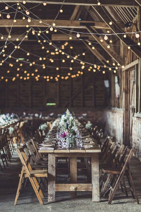 boho wedding decoration ideas with string lights