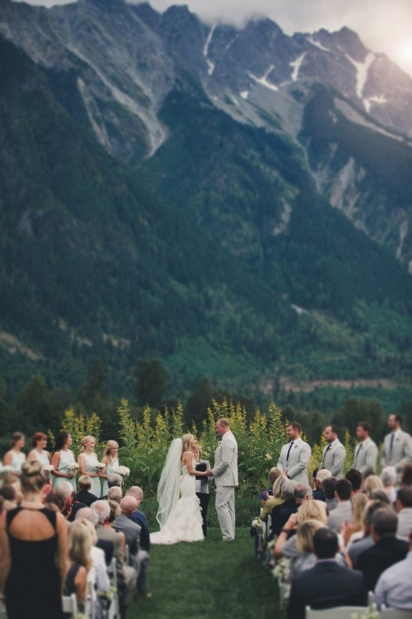 brilliant mountain wedding ceremony ideas