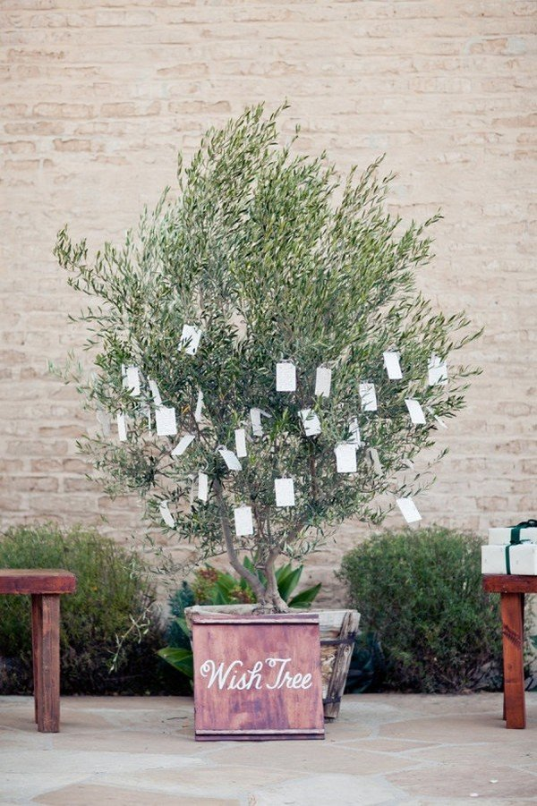 creative wedding wishing tree ideas