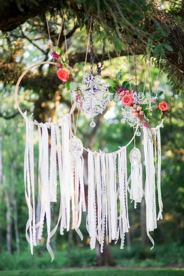 dream catcher boho wedding decoration ideas