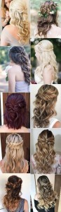 half up half down wedding hairstyles from Hair and Makeup Girl