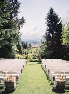 mountainside wedding ceremony decoration ideas