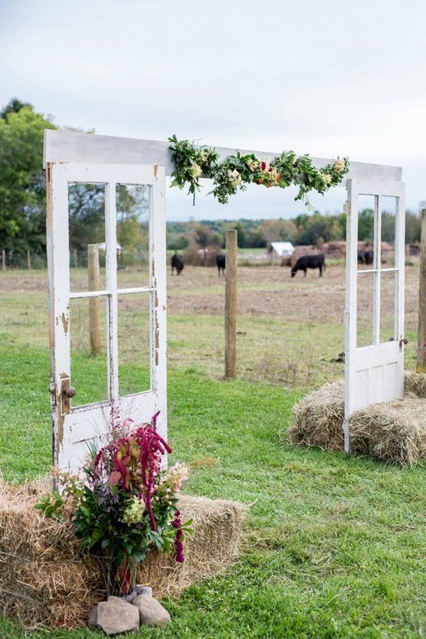 rustic farm wedding entrance decoration ideas