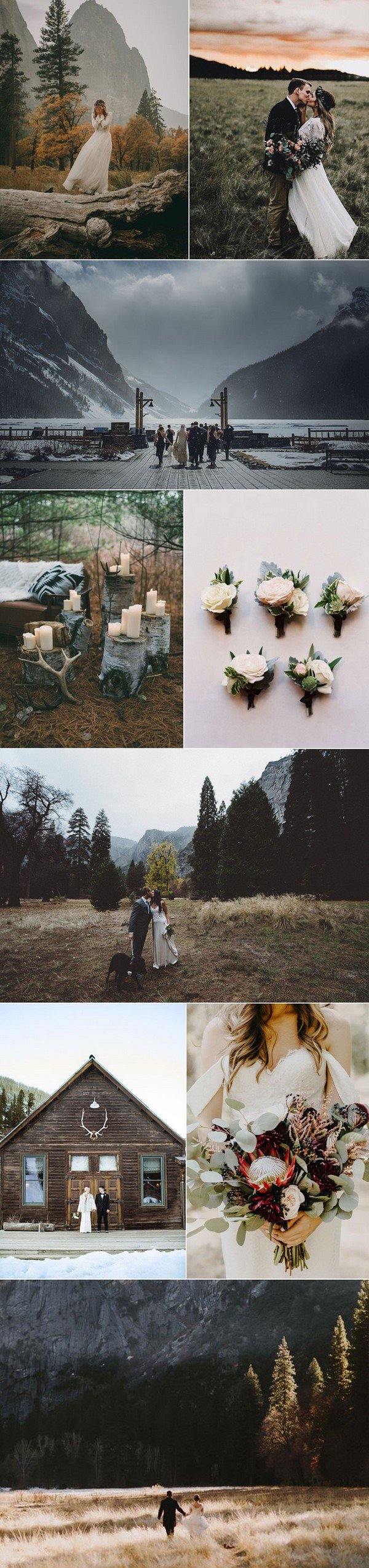 rustic mountain side wedding ideas