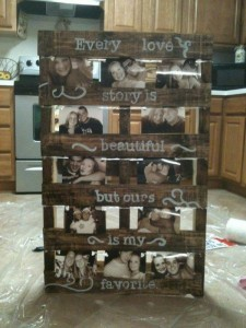 rustic wedding sign ideas with pallet