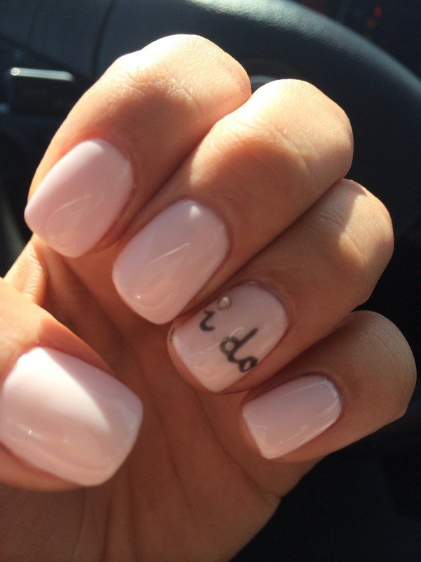 bridal nail design ideas with i do
