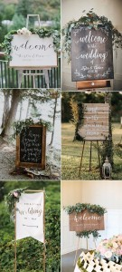 chic greenery wedding sign ideas