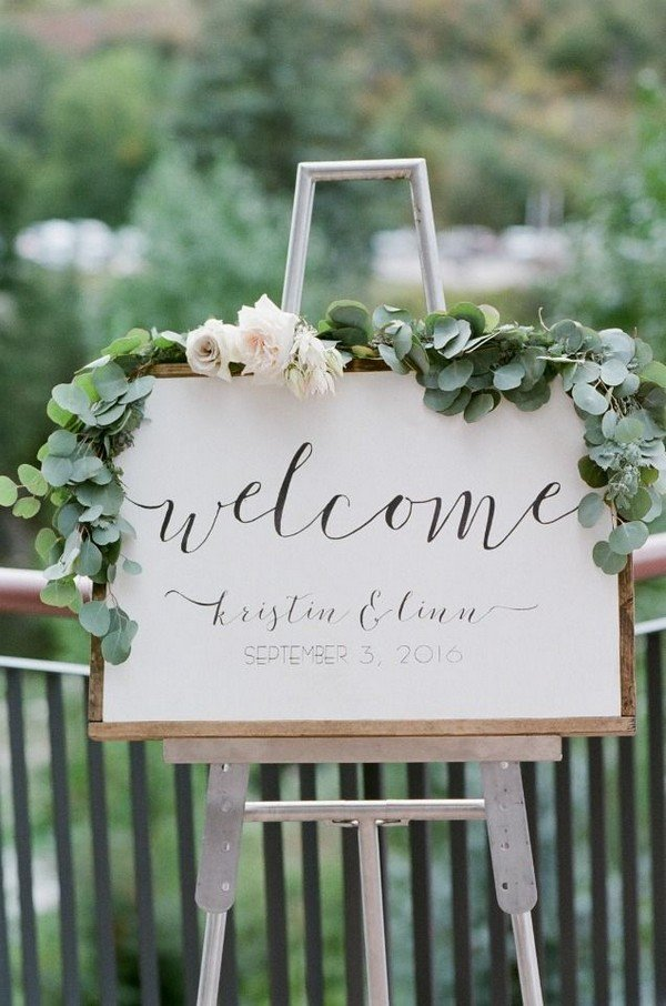 15 Chic Greenery Wedding Signs For 2018 Trends