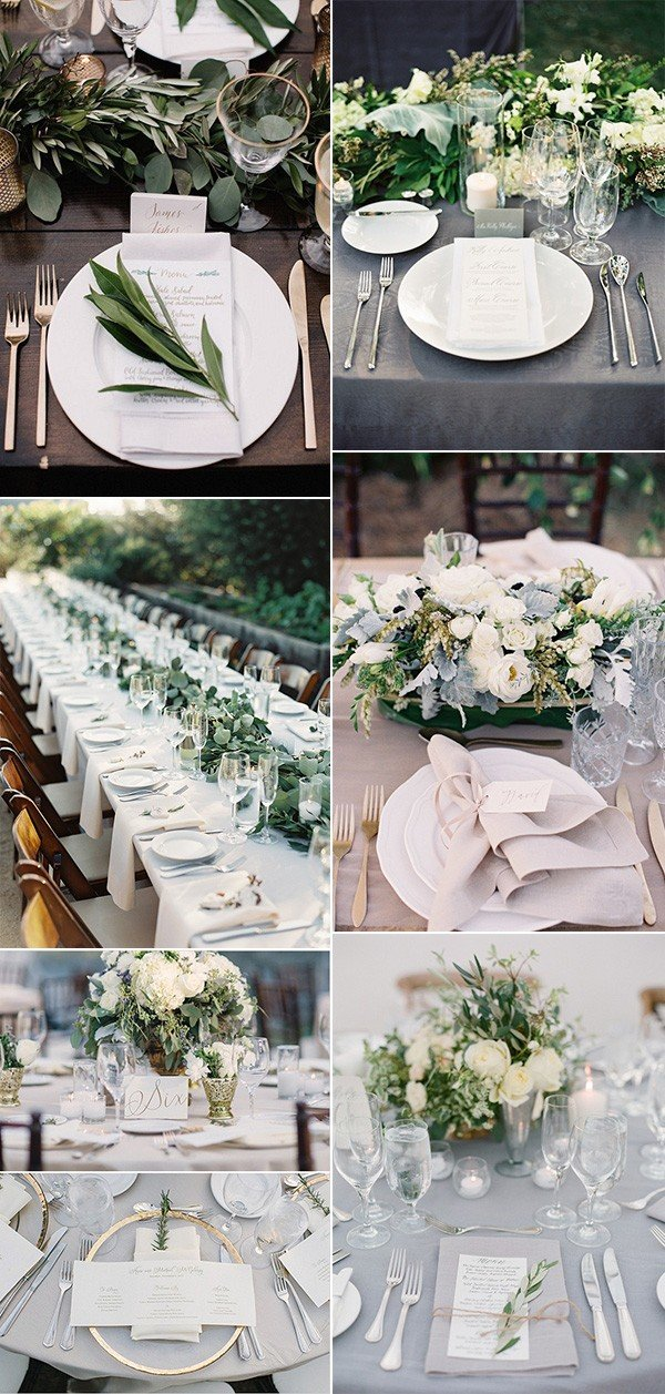 Top 15 So Elegant Wedding Table Setting Ideas for 2018 - Oh Best Day ...