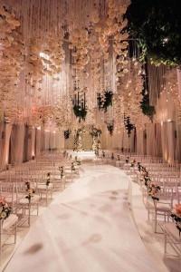 fairytale flower ceiling wedding decoration ideas