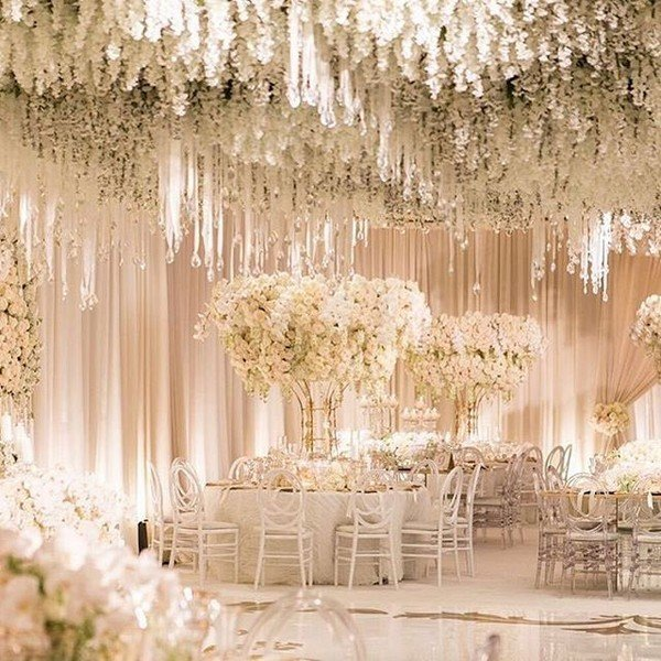 fairytale wedding reception decoration ideas with flowers
