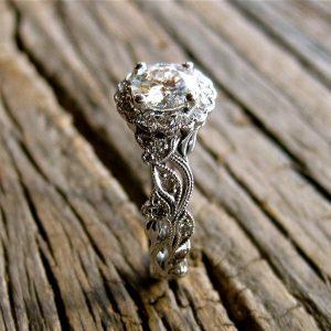 fancy vintage wedding engagement ring