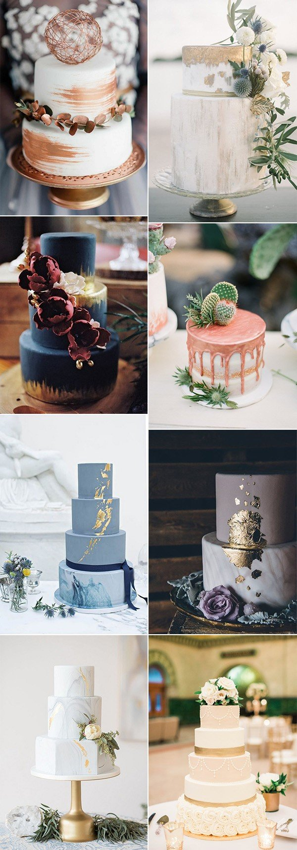 metallic wedding cake ideas