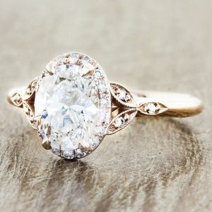 round vintage wedding engagement ring