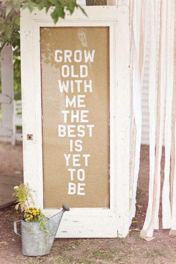 rustic wedding sign with old door
