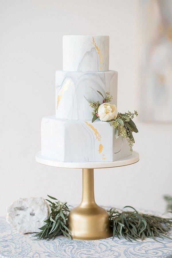 Trending 15 Creative Metallic Wedding Cakes For 2018 Oh