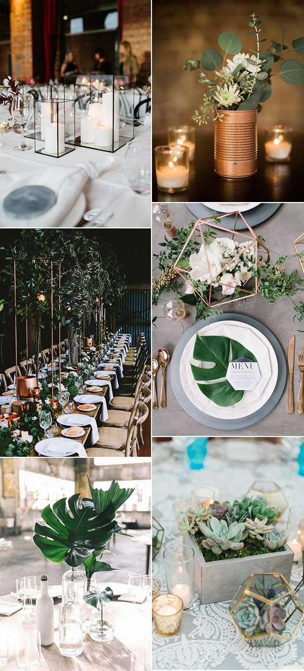 trending industrial wedding centerpiece ideas for 2018