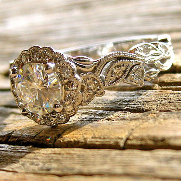 vintage inspired wedding engagement ring