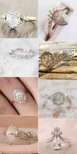 vintage inspired wedding engagement rings