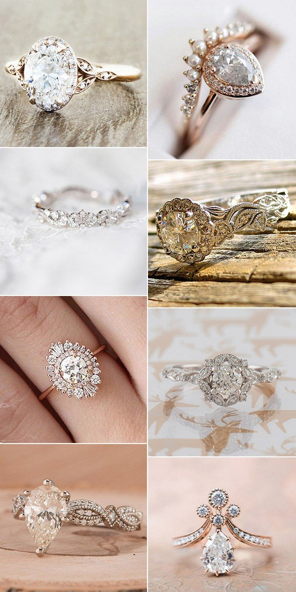 vintage inspired wedding engagement rings