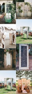 vintage wedding decoration ideas with old doors
