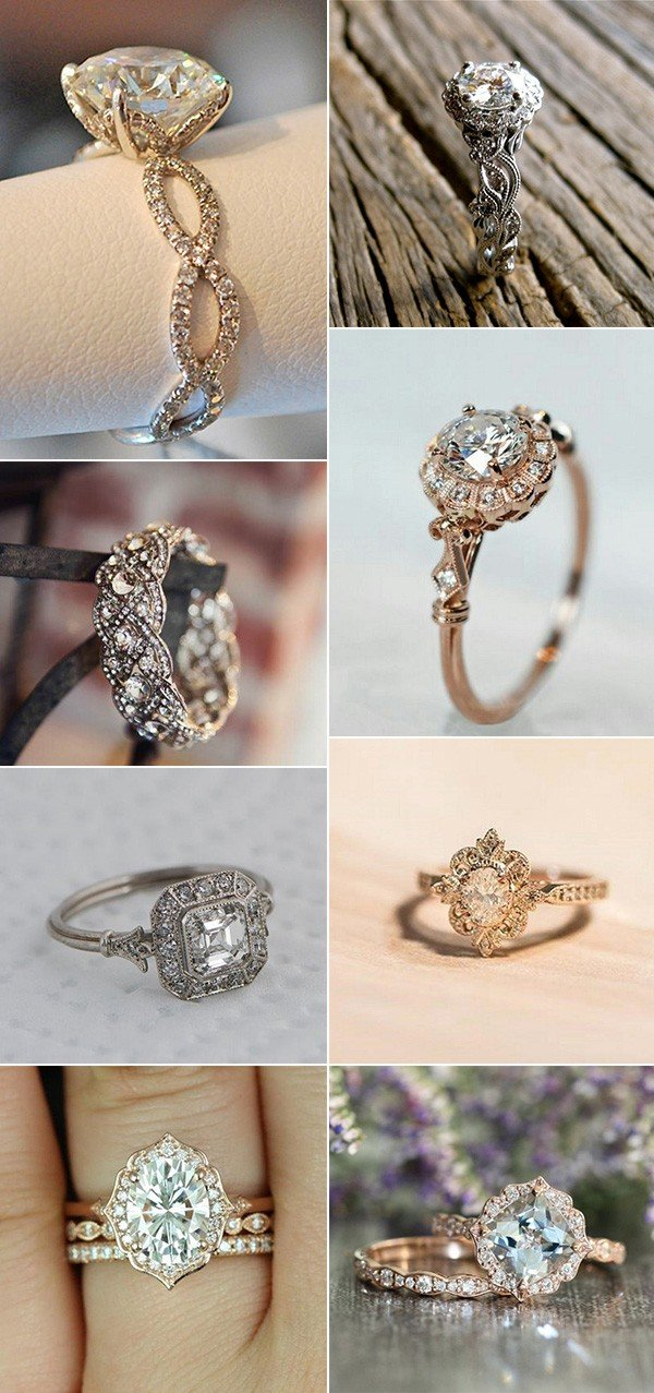 vintage wedding engagement rings