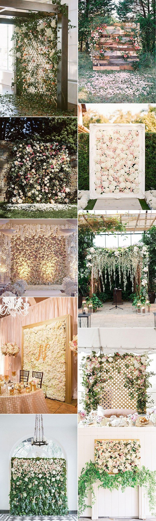 2018 trending flower wall wedding backdorp ideas