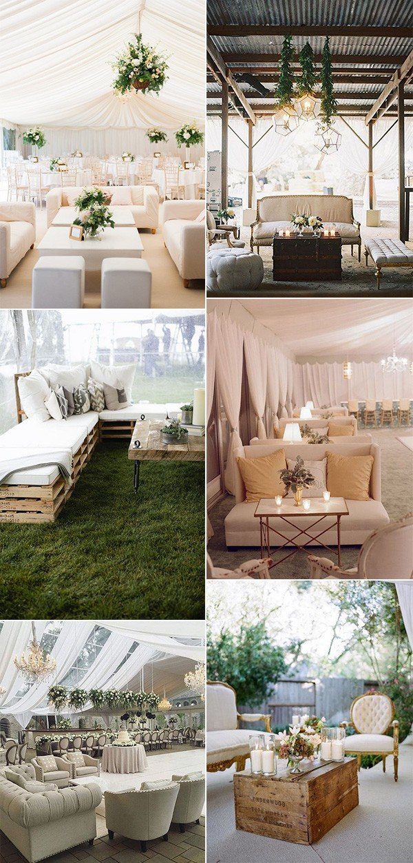 2018 trending wedding reception lounge area ideas