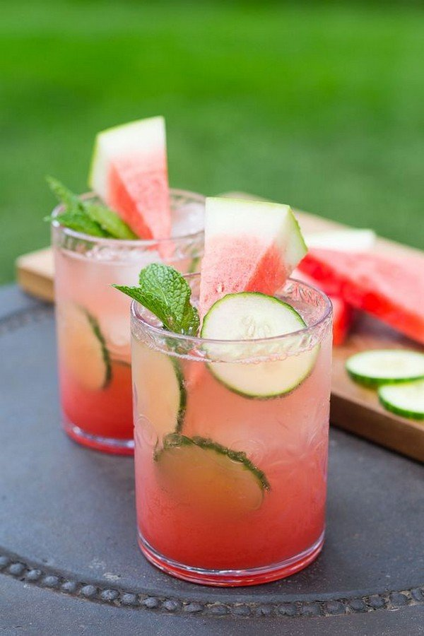 Watermelon & Cucumber Mojitos wedding drink ideas