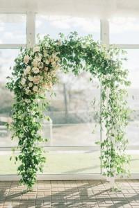 chic floral wedding arch ideas