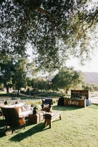 chic reception lounge area for outdoor wedding ideas