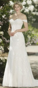 elegant off the shoulder true bride wedding dress W266