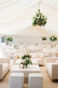 elegant tented wedding reception lounge area decoration ideas