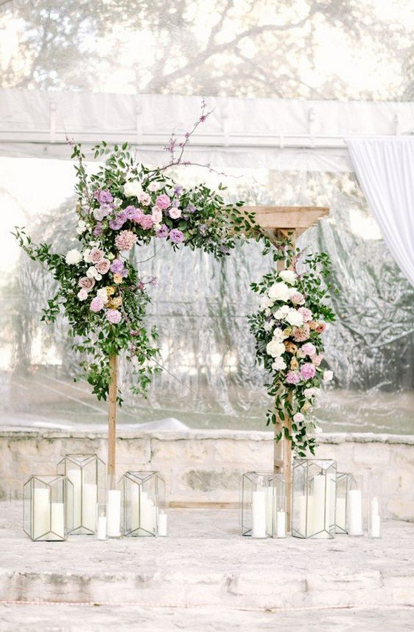 elegant wedding floral arch ideas