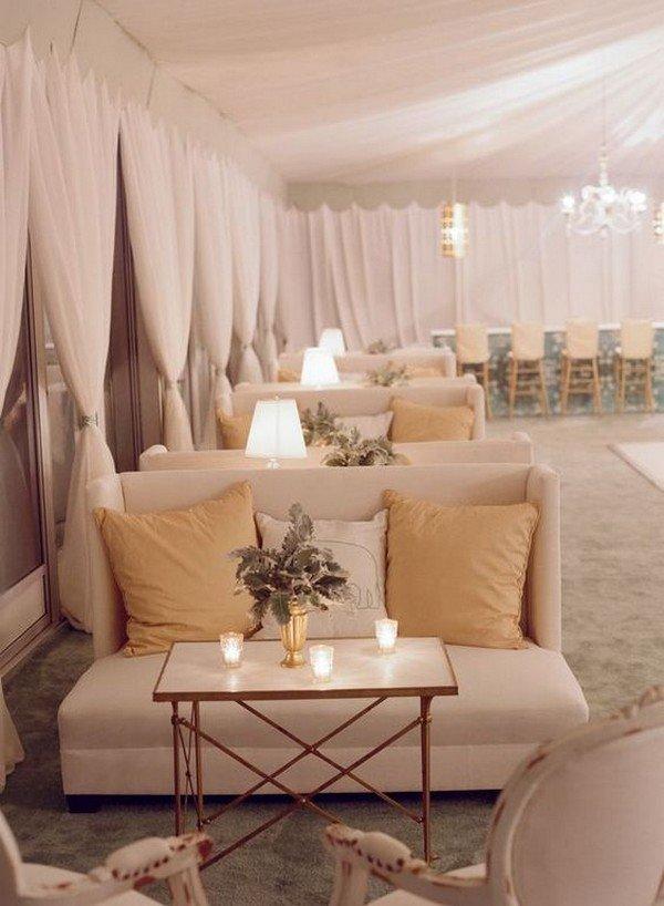 elegant wedding reception lounge area decoration ideas