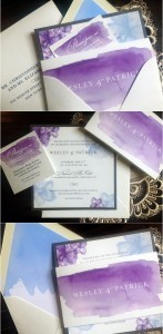 hand painted watercolor wedding invitations