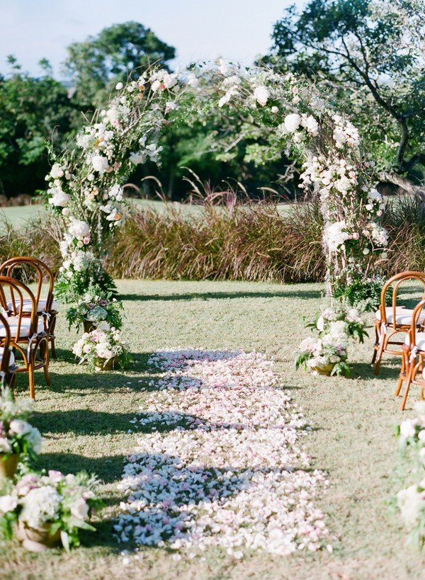 romantic floral wedding arch decoration ideas