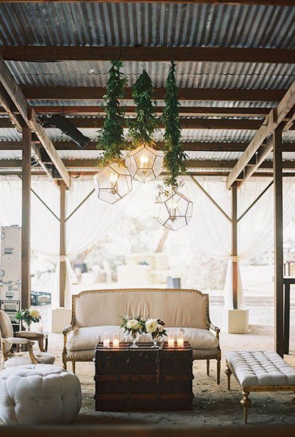 rustic-chic wedding lounge area ideas
