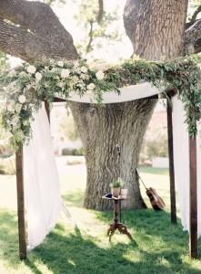 rustic floral wedding arch ideas
