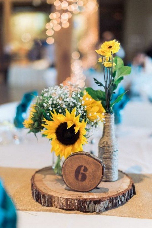 18 Cheerful Sunflower Wedding Centerpiece Ideas Page 2