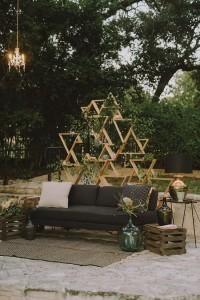 shabby chic outdoor wedding sitting area ideas