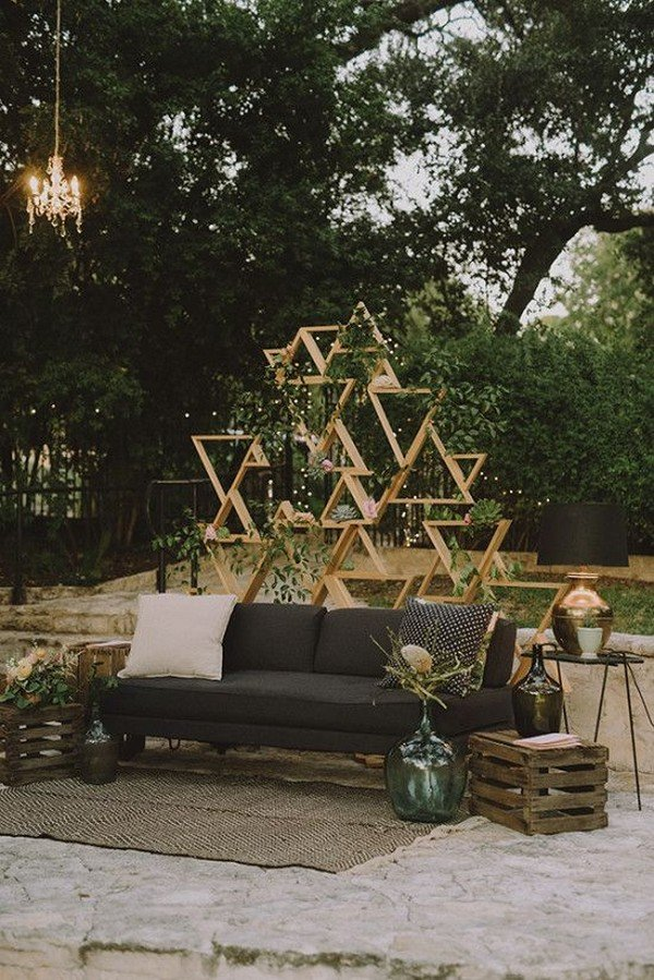 shabby chic outdoor wedding sitting area ideas