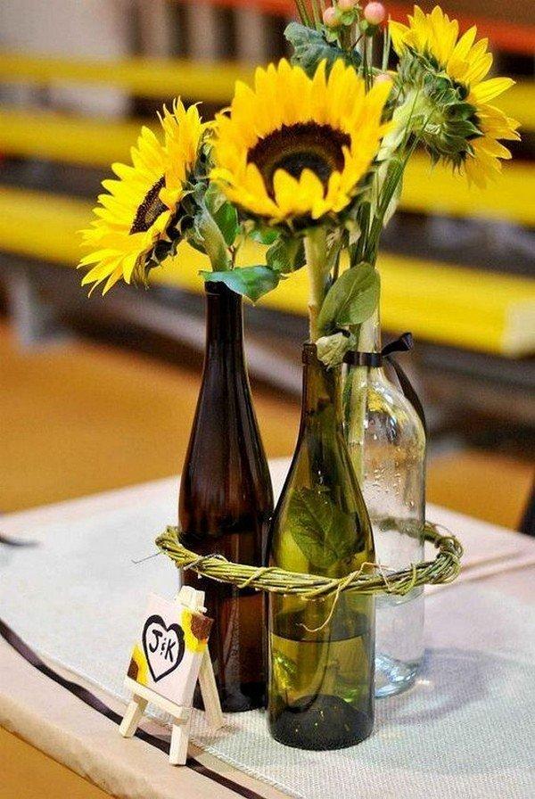 sunflower wedding centerpiece ideas