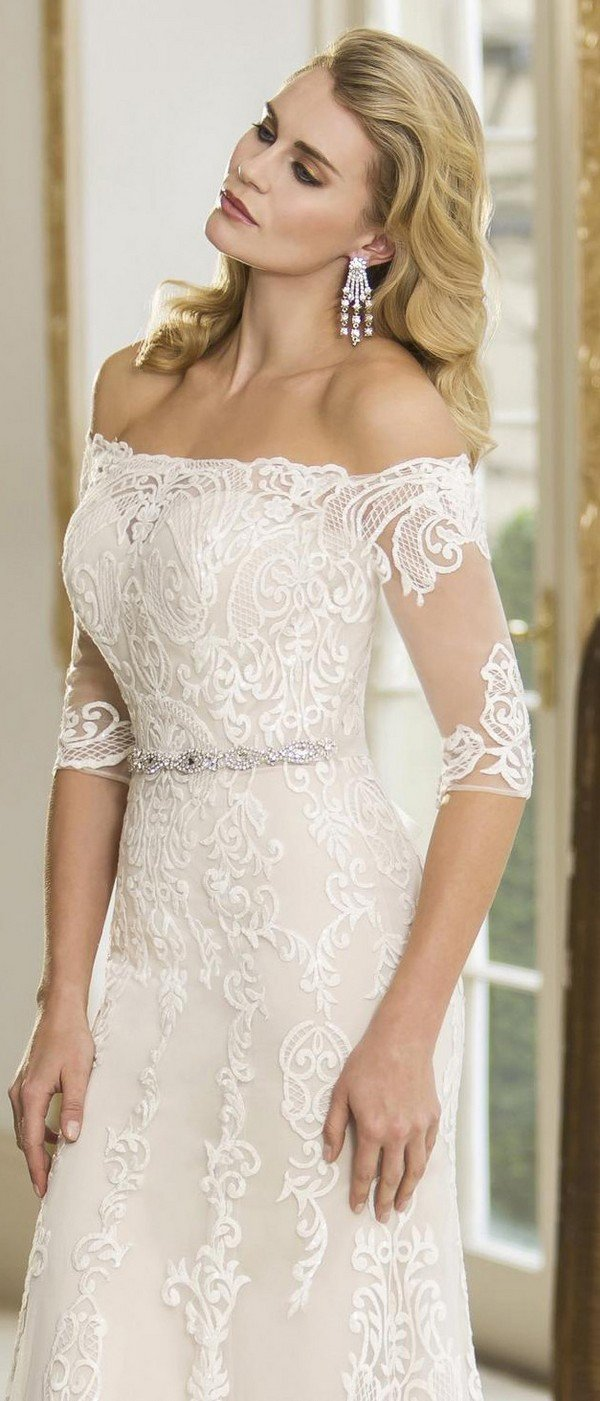 true bride lace wedding dress Bianca